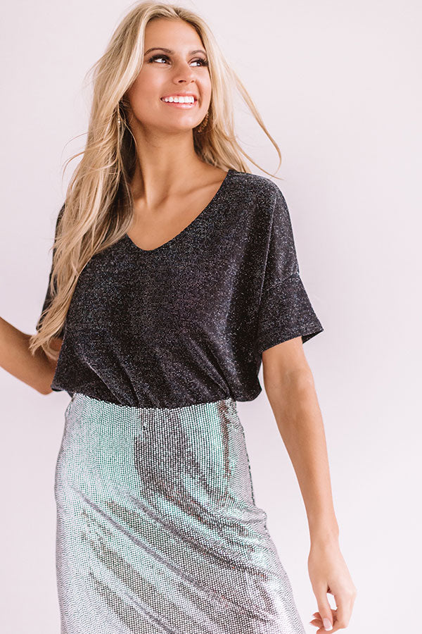 Cheers And Applause Shift Top In Black
