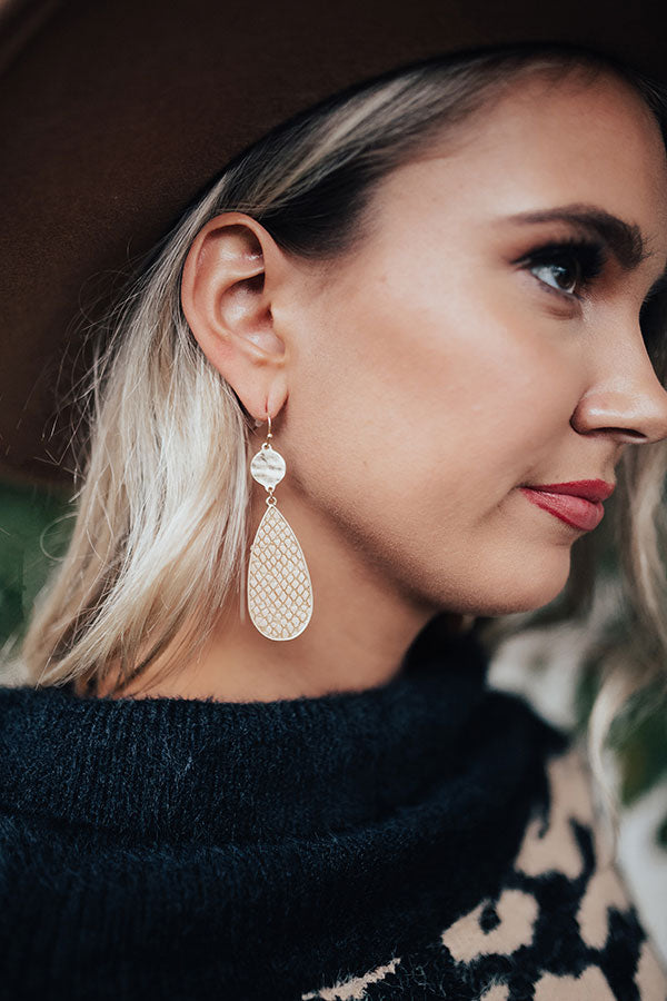 Heartland Happiness Earrings In Tan