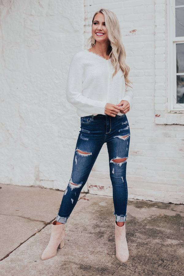 The Ambrielle High Waist Distressed Skinny