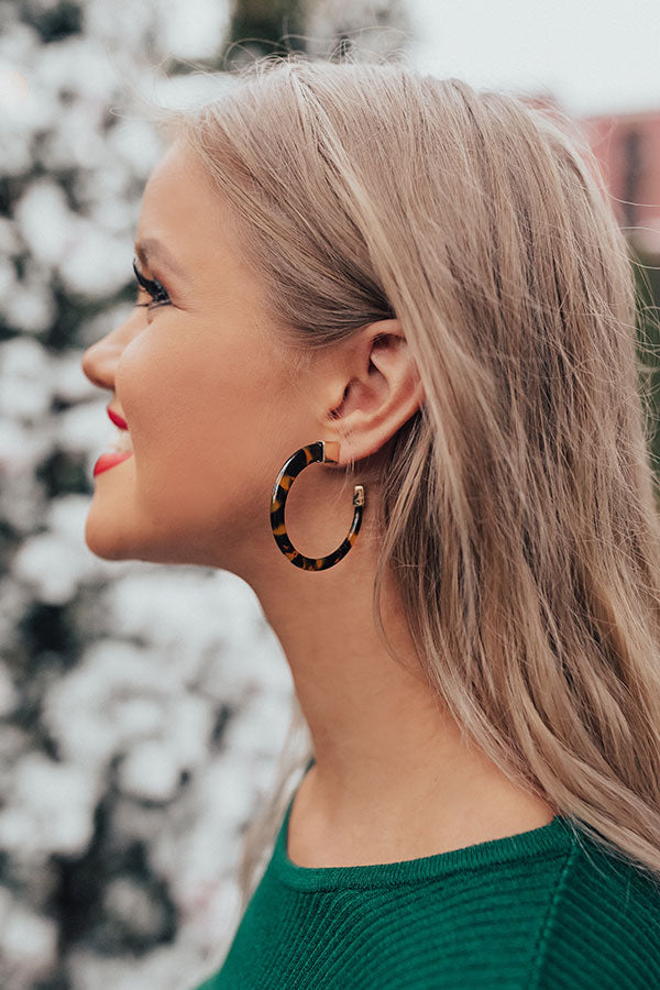 Can't Rush Perfection Tortoiseshell Earrings
