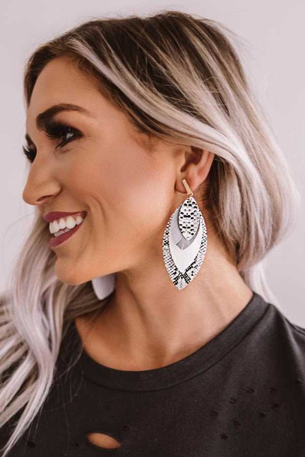 Feeling Affectionate Snake Print Earrings
