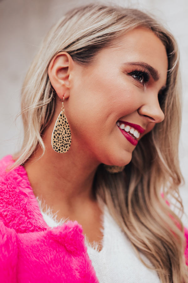Deepest Desire Cheetah Print Earrings
