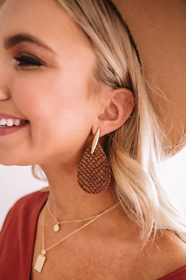 Busier Than Ever Snake Print Earrings