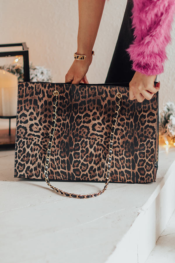 Luxe Experience Leopard Tote
