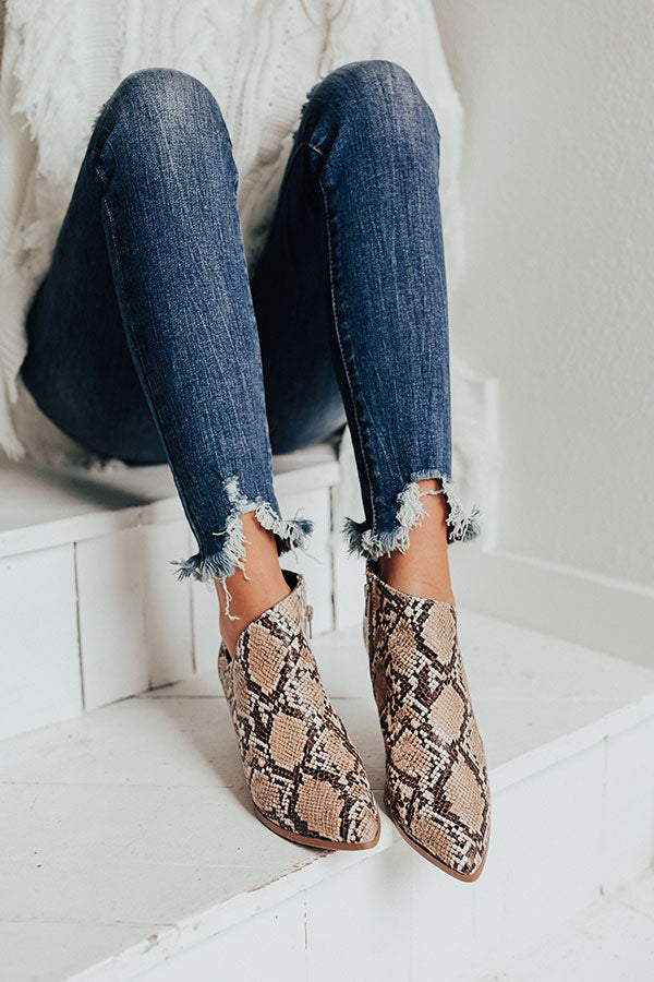 The Marie Snake Print Bootie