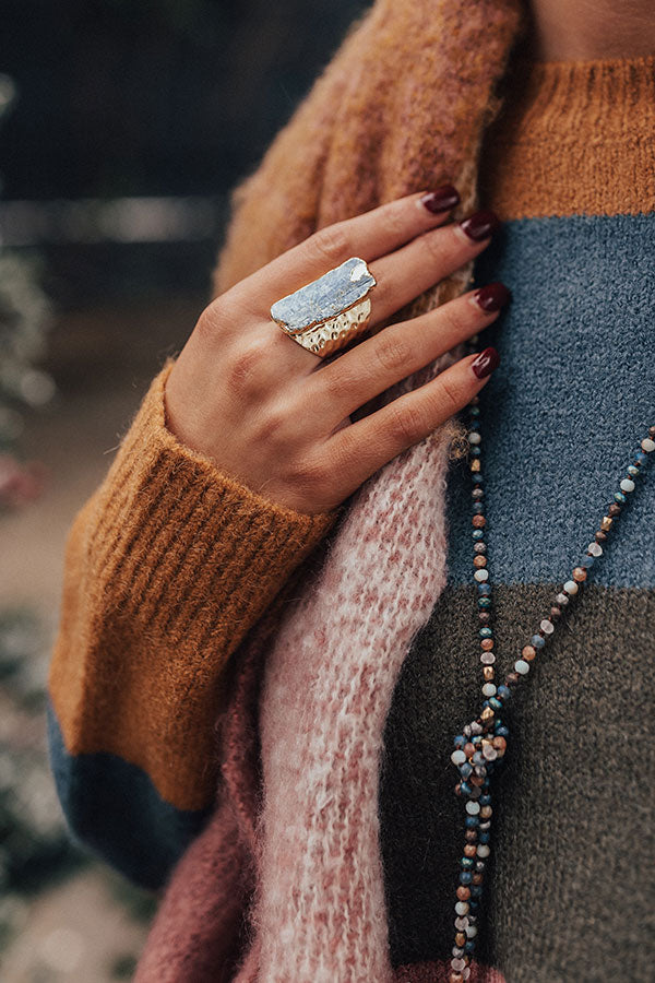 Ultimate Evening Druzy Stone Ring
