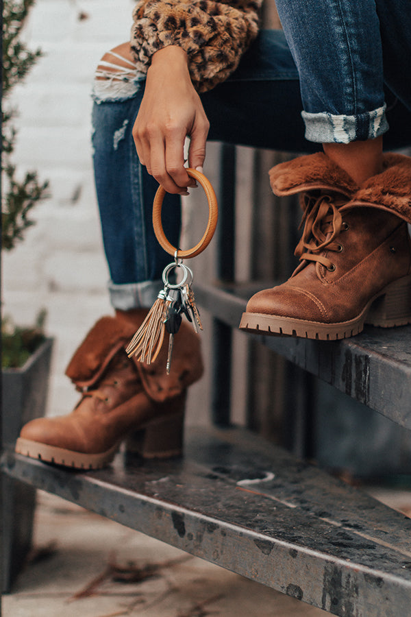 Finders Keepers Faux Leather Key Ring