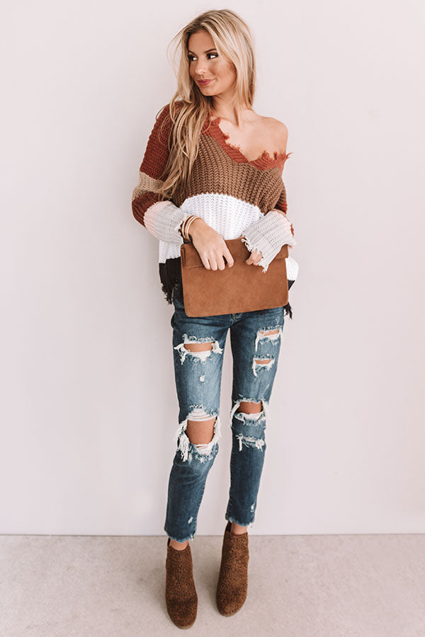 Cocoa Cheers Shift Sweater In Mocha