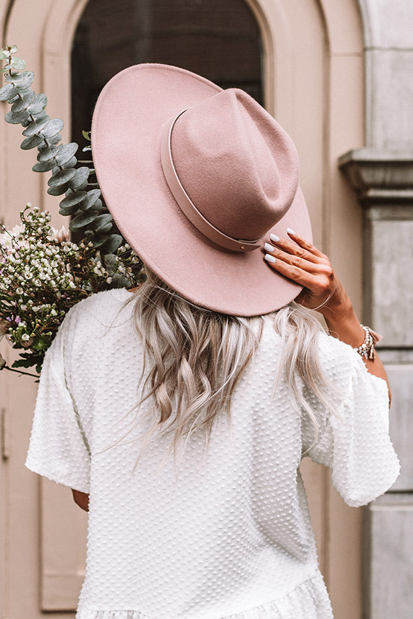 Pass The Prosecco Wool Hat In Blush