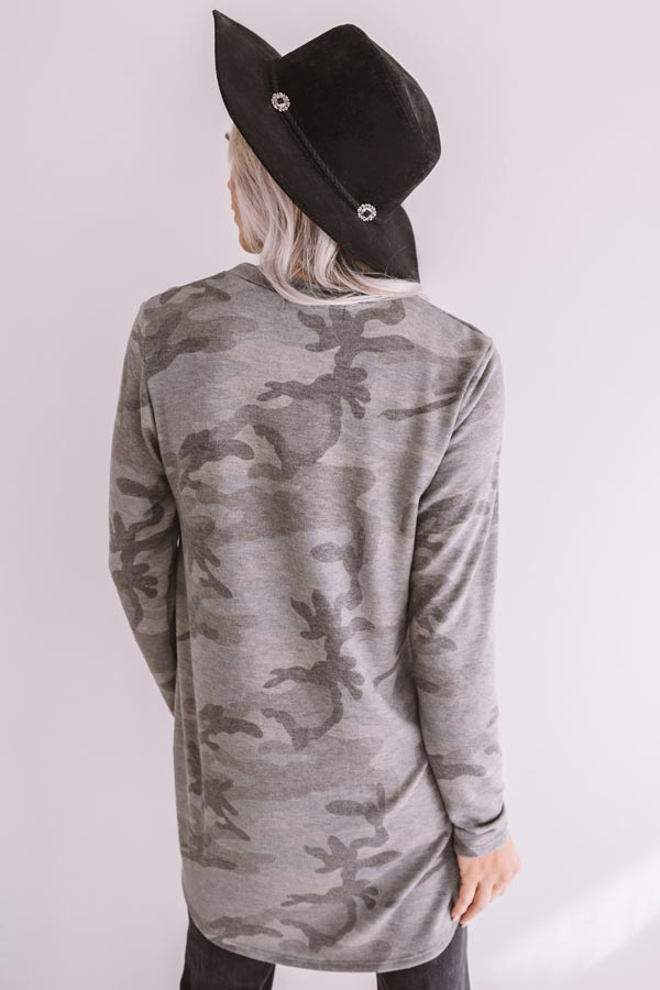 Chic Selection Camo Tunic Top