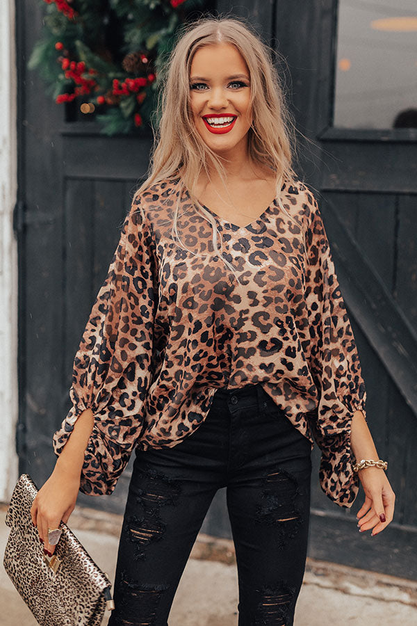 Object Of Affection Leopard Shift Top