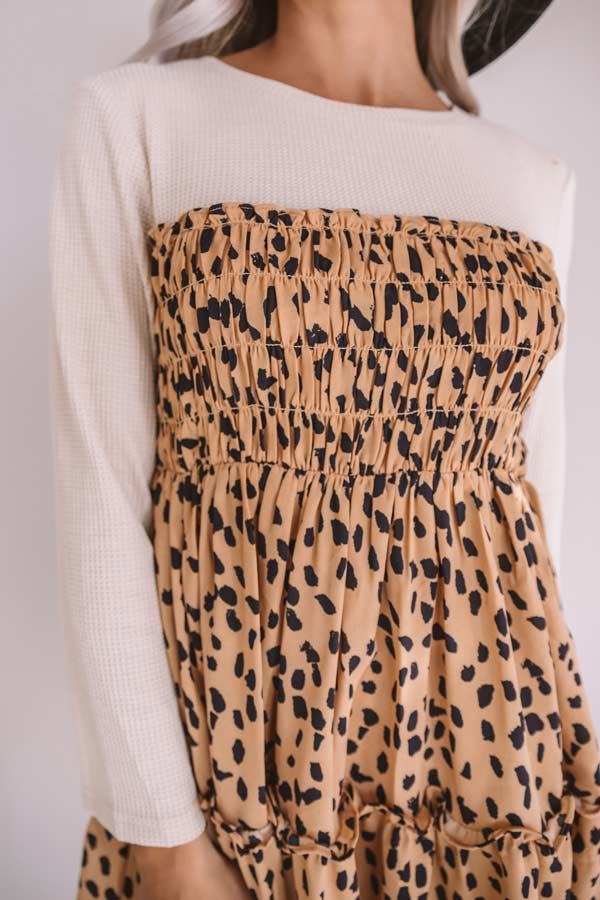 Showing Up Chic Leopard Shift Dress