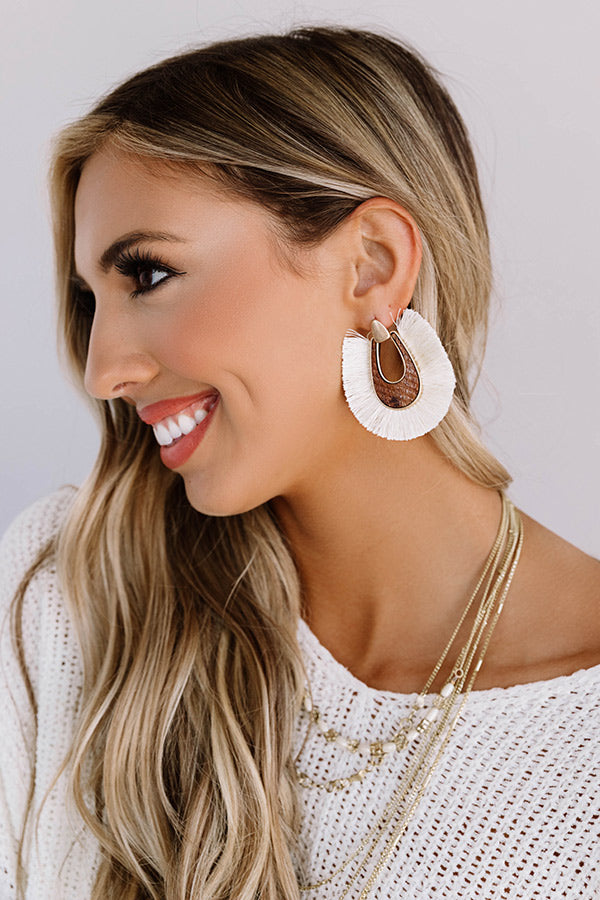 Passport Please Earrings In Ivory