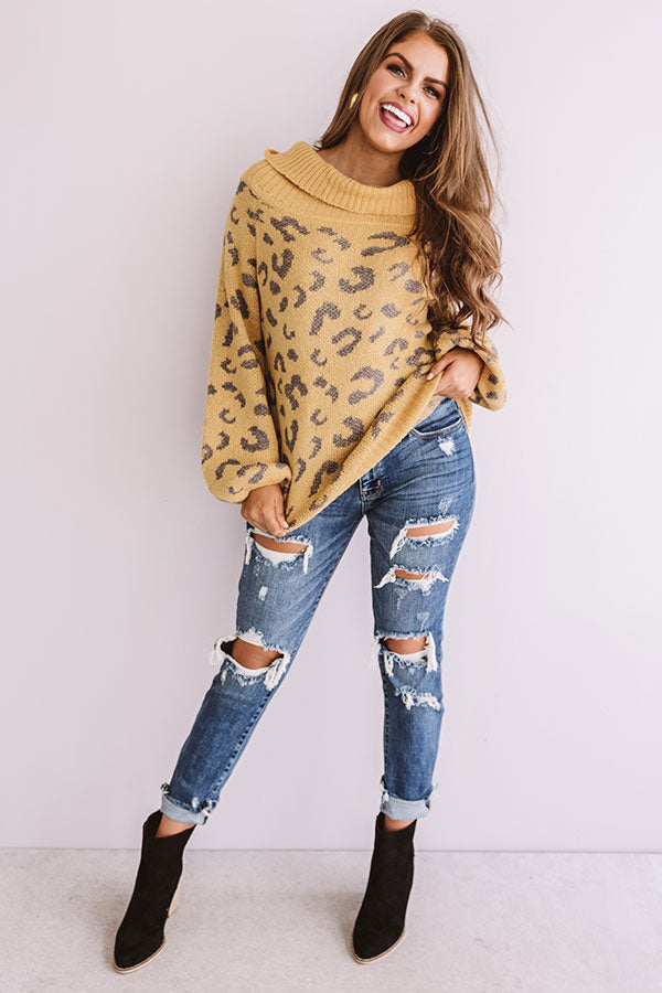 Flurries In France Leopard Knit Sweater