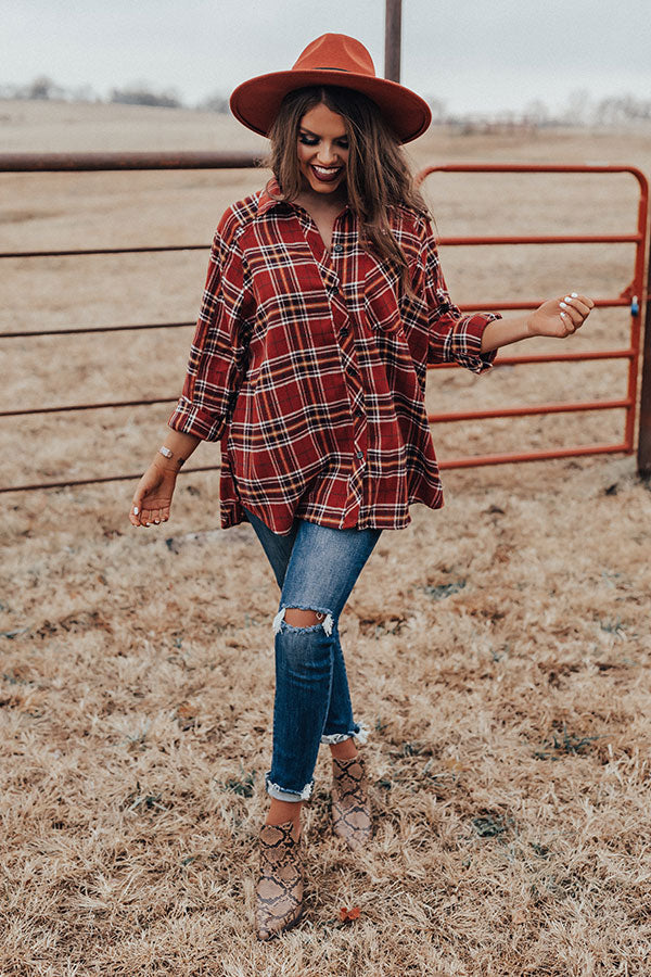 Breckenridge Brunch Plaid Shift Top