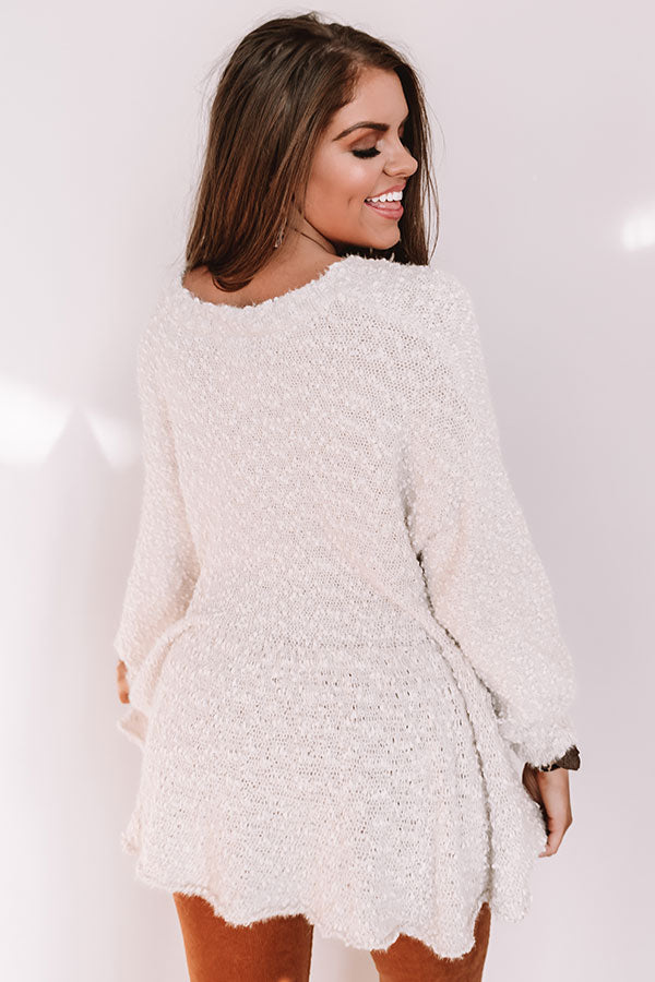 Believing In Magic Babydoll Sweater in Cream