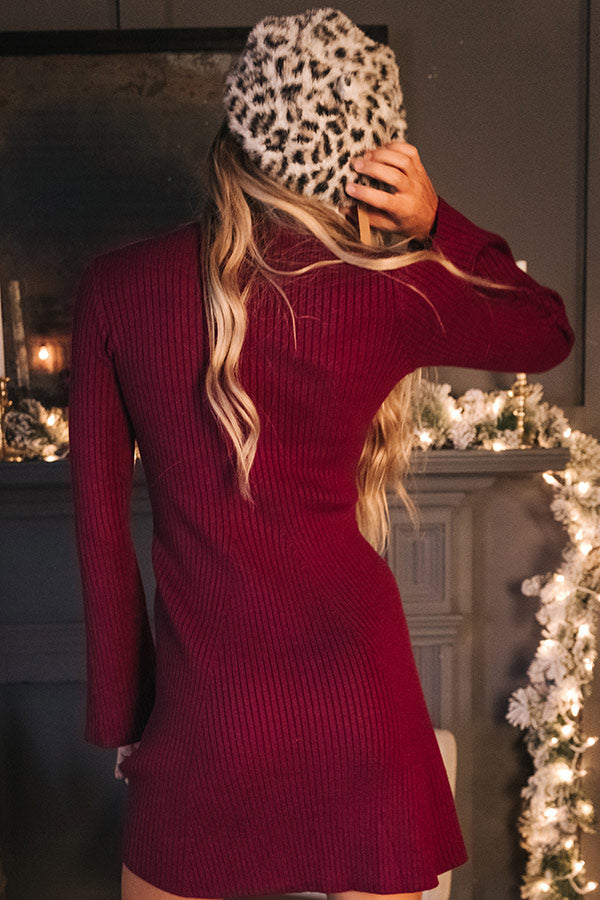 Merlot And Motivation Sweater Dress