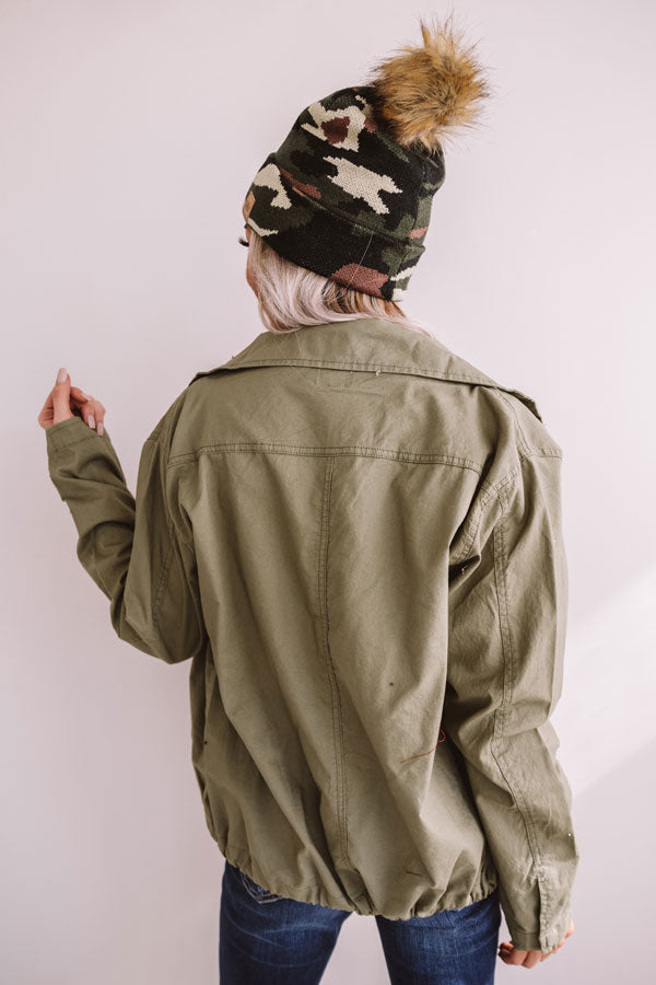 Passport Please Lightweight Cargo Jacket