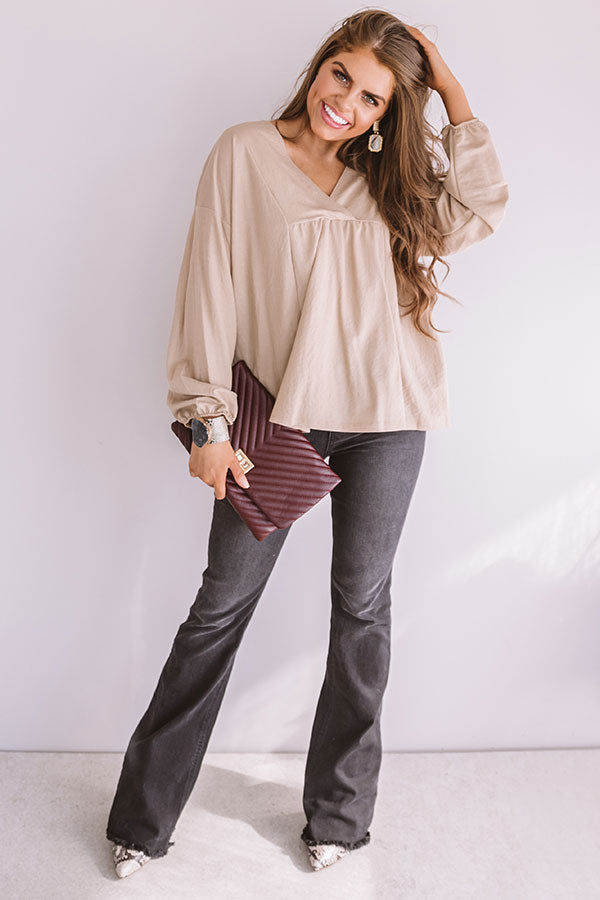 Effortless Love Shift Top In Beige
