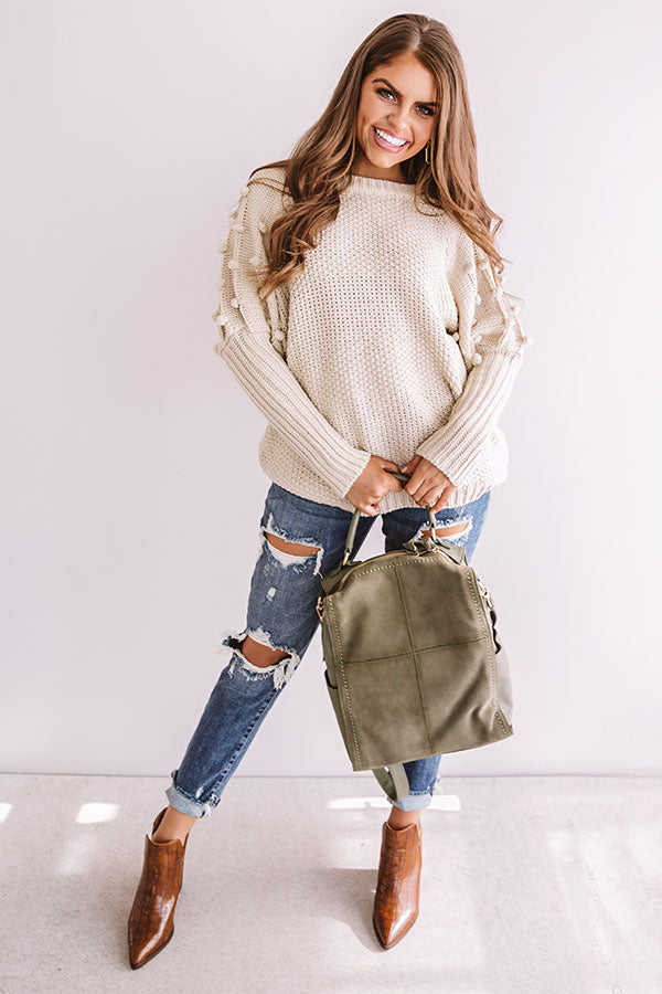 Cuddles Divine Knit Sweater in Stone
