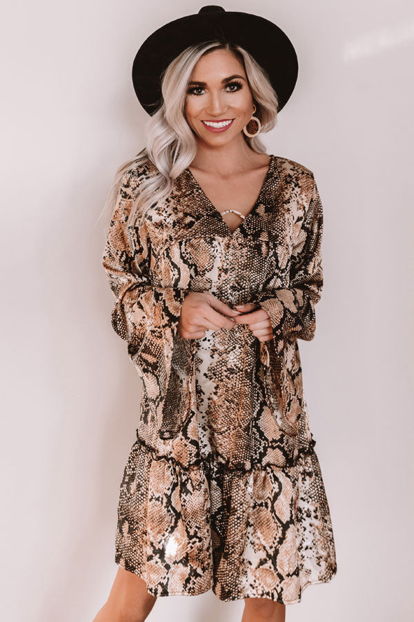 Ultimate Evening Snake Print Shift Dress