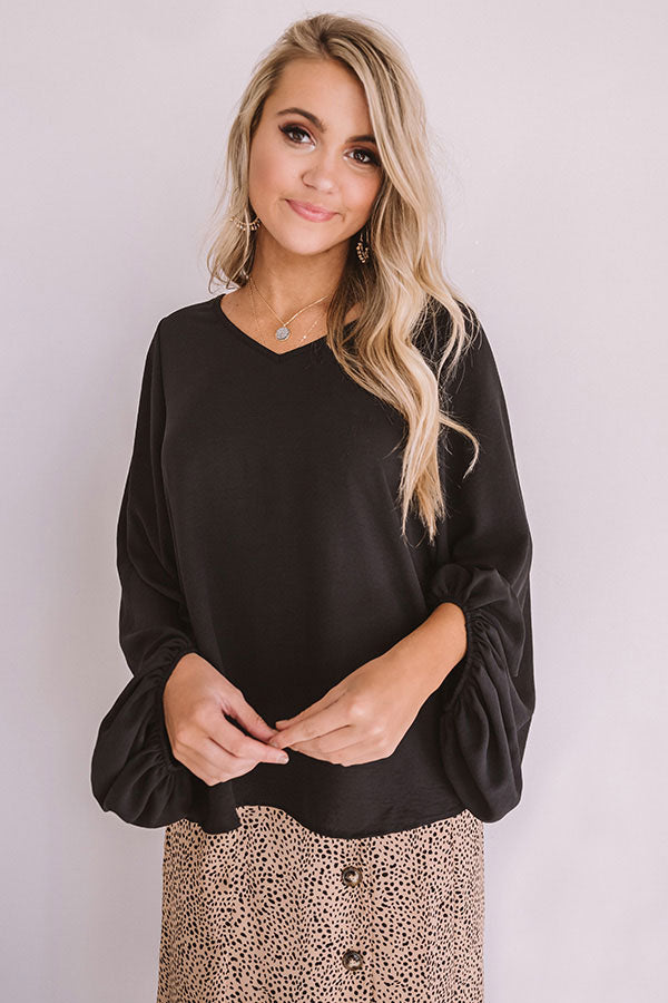 So Amazed Shift Top In Black