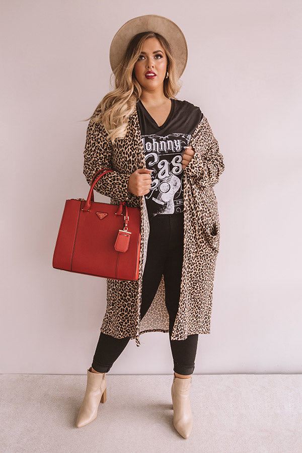 Sweetly Swooning Leopard Cardigan