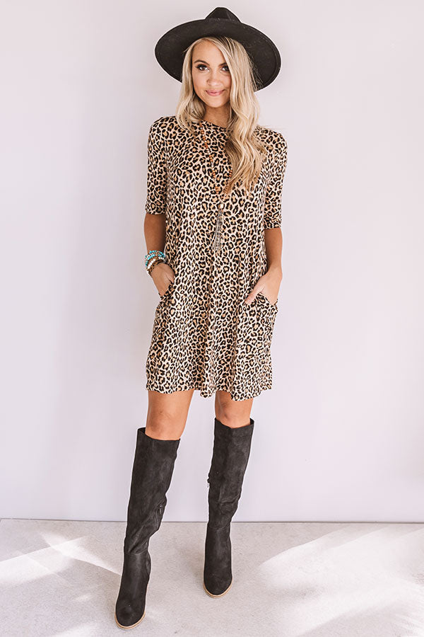 Brooklyn Belle Leopard Shift Dress