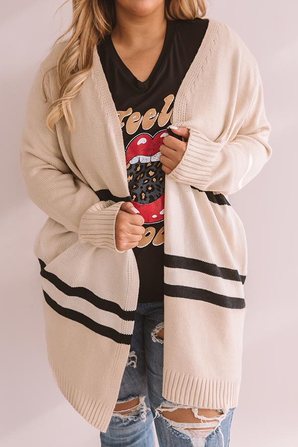 S'mores And Snuggles Cardigan In Cream