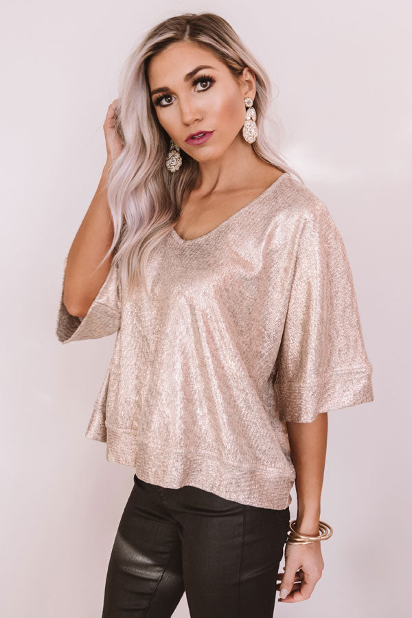 Link To Luxury Shimmer Shift Top