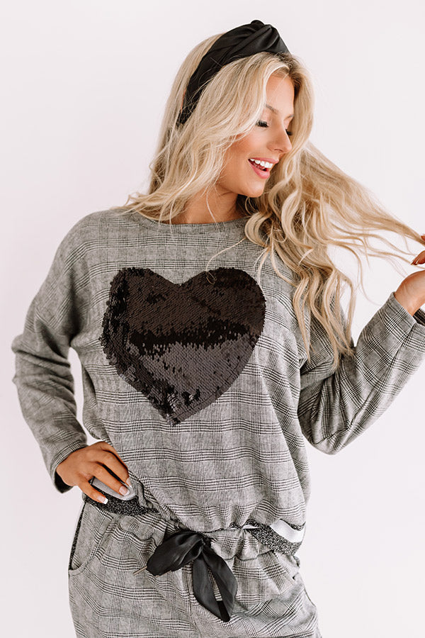 Heartland Happiness Sequin Sweatshirt