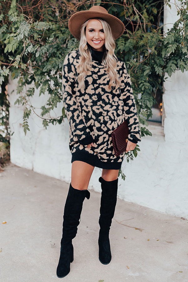 Melting Hearts Leopard Tunic Sweater