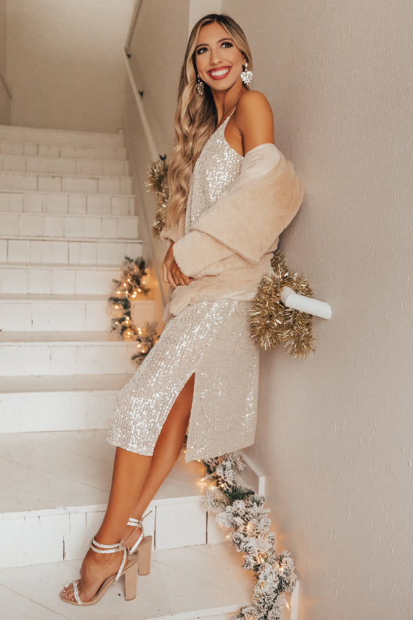 Shining So Bright Sequin Midi