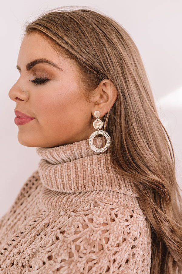 Romance On Repeat Earrings In Ivory