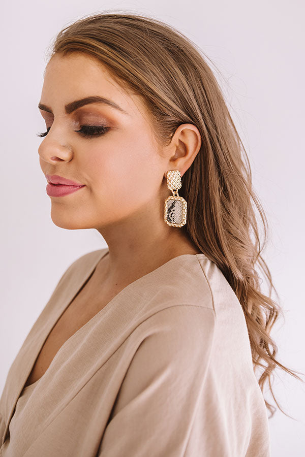 Private Jets Only Snake Print Earrings In Taupe