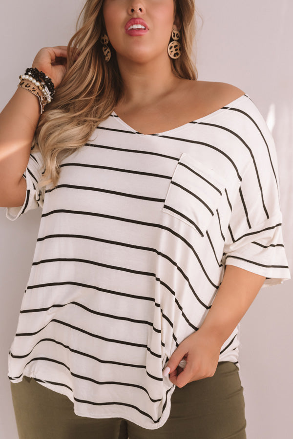 Feeling Fortunate Stripe Shift Tee