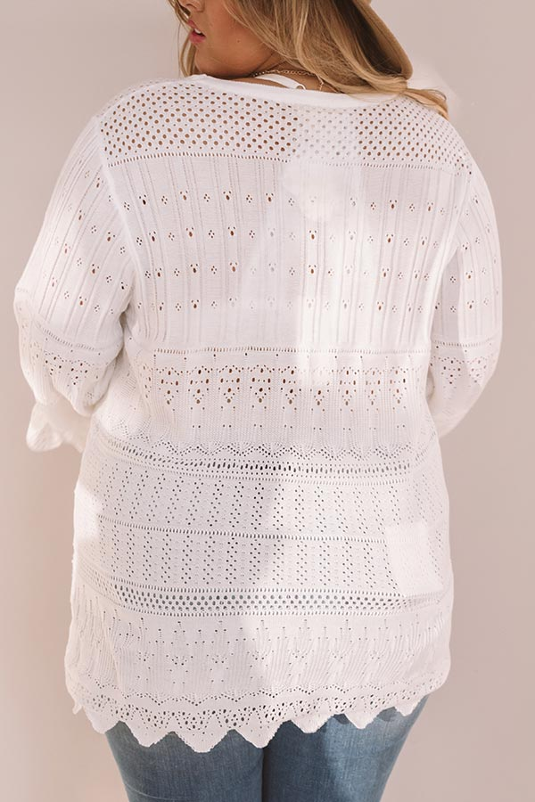 Artistic Mood Eyelet Shift Top
