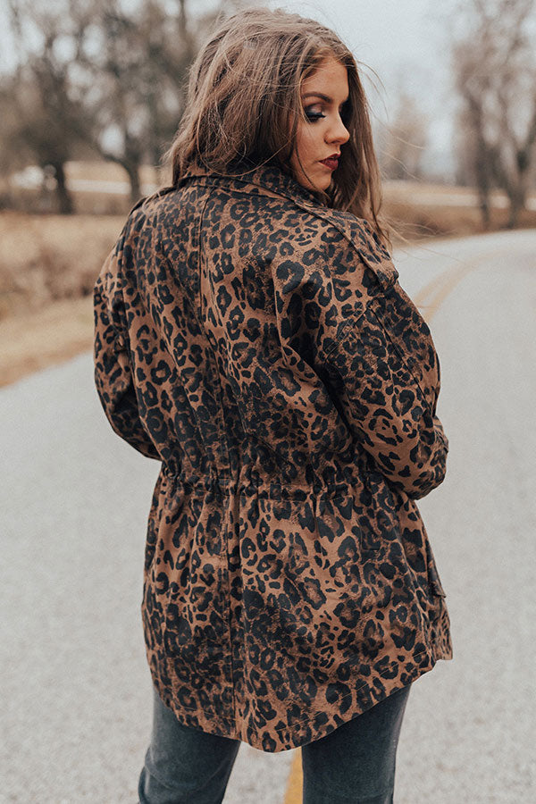Going All Out Leopard Cargo Jacket
