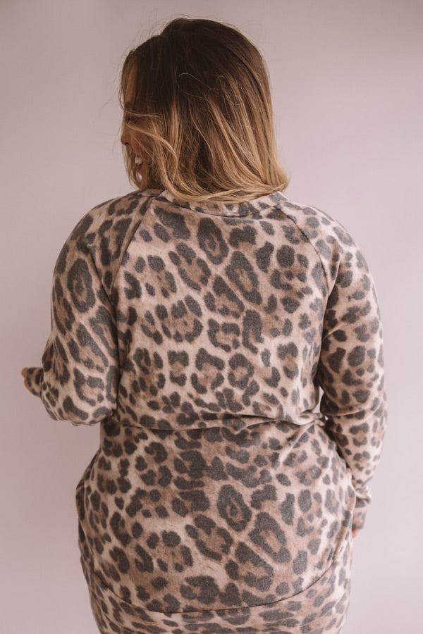Weekend Chill Leopard Sweatshirt