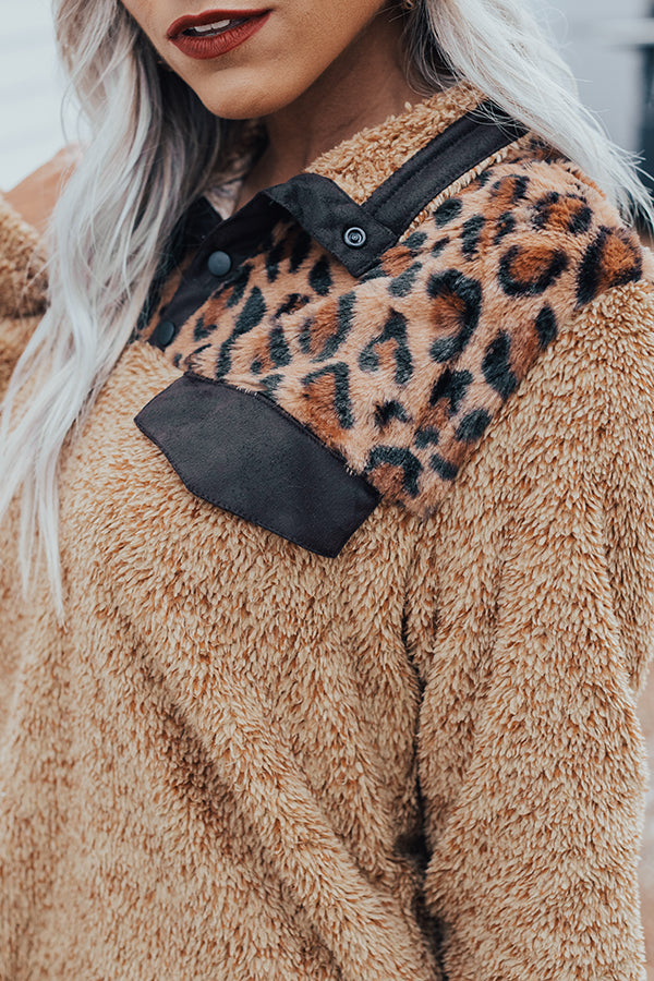 Time To Treat Yourself Leopard Pullover