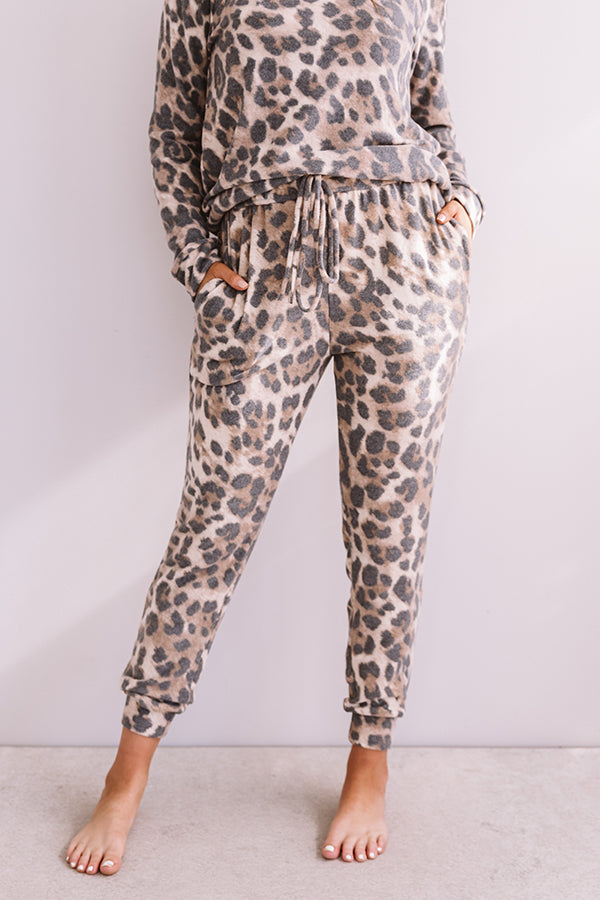 Weekend Chill Leopard Jogger