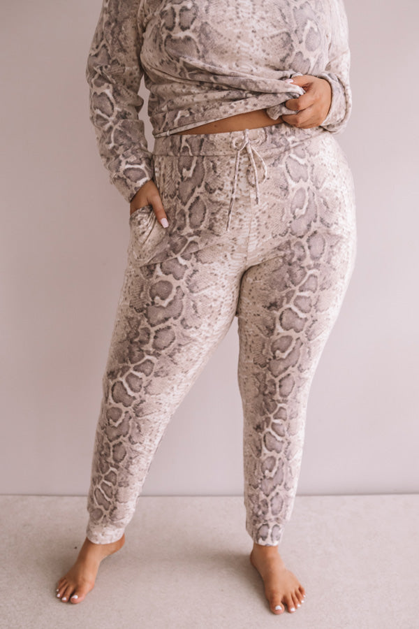 Weekend Chill Snake Print Jogger