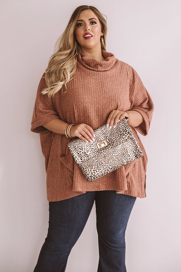 Glittering Lights Ribbed Sweater Top