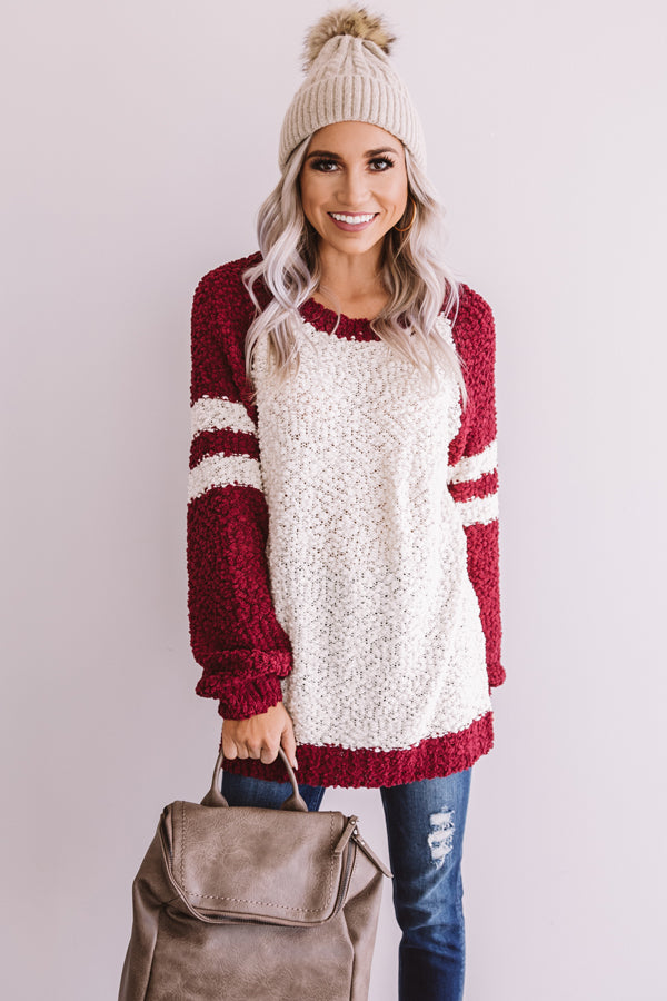 Extended Stay Popcorn Knit Sweater