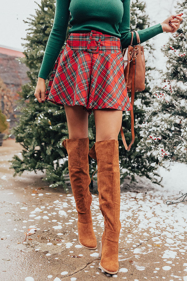 Fashionably Festive Plaid Skort