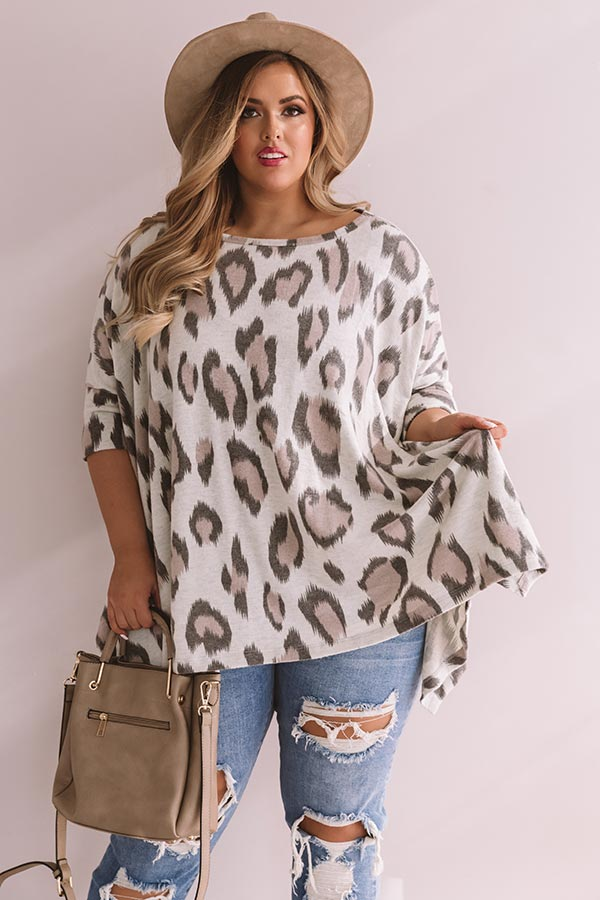 Long Distance Love Leopard Sweater Top