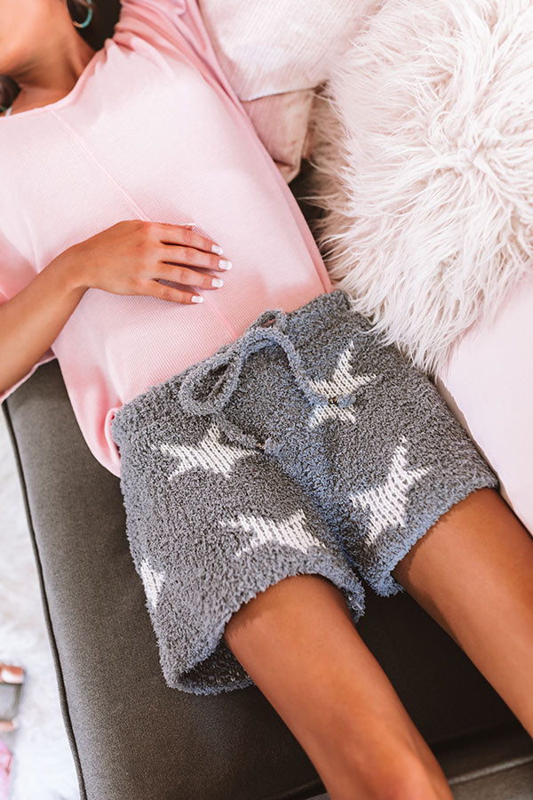 Stars And Kisses Knit Shorts