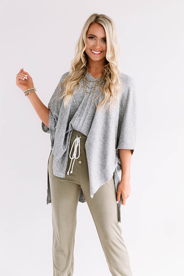 Pause For Perfection Shift Tunic In Grey