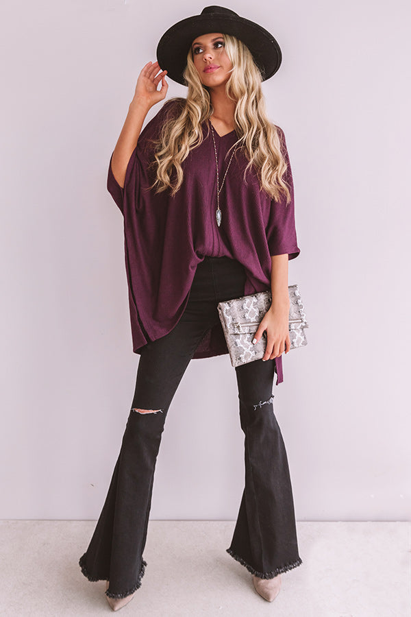 Pause For Perfection Shift Tunic In Windsor Wine