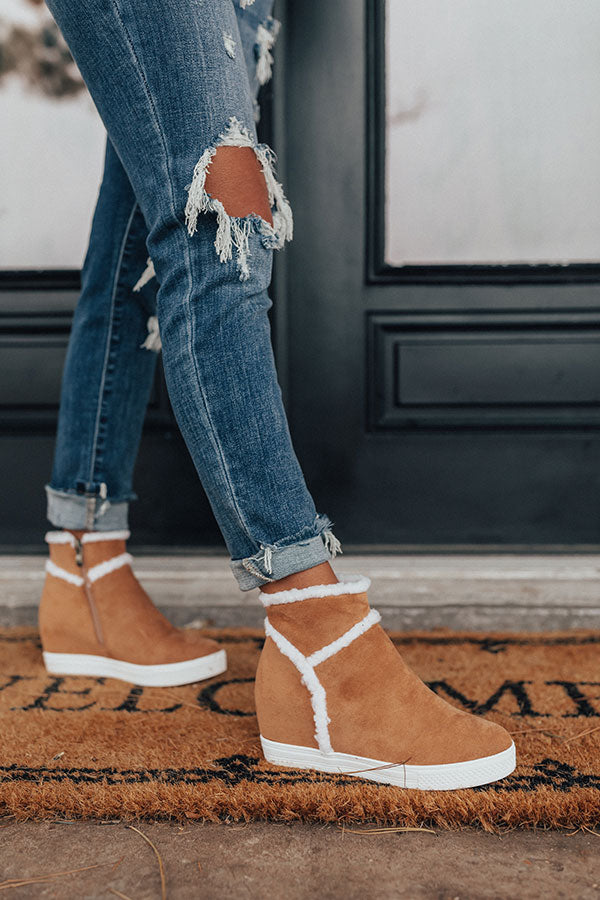 The Bryant Faux Suede Bootie In Camel